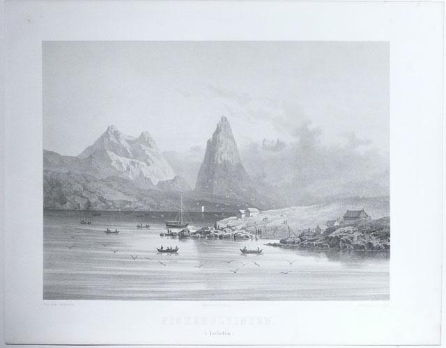 (TÖNSBERG, CHR.) Fiskeboltinden i Lofoden.