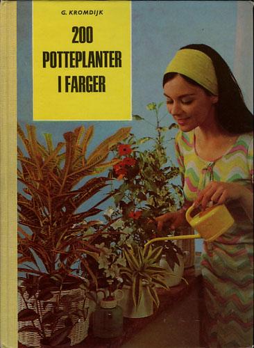 200 potteplanter i farger.