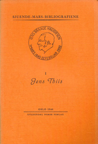 (THIIS, JENS) Museumsdirektør Jens Thiis's forfatterskap.