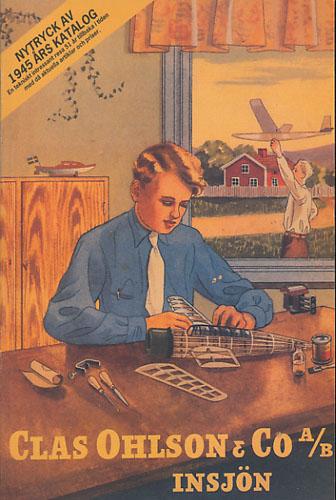 CLAS OHLSON & CO, INSJÖN.  Nytryck av 1945 års Katalog. (Omslagstittel).