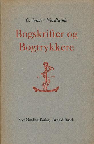 Bogskrifter og Bogtrykkere.