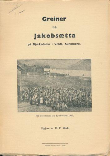 Greiner frå Jakobsætta på Bjørkedalen i Volda, Sunnmøre. I. Greier på Sunnmøre. II. Greiner i Nordfjord.