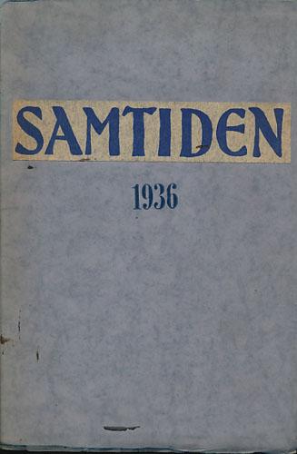SAMTIDEN.  Tidsskrift for politikk, litteratur og samfundsspørsmål. Redigeret av Jac.S. Worm-Müller.