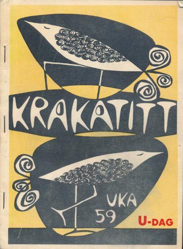 UKA-59. KRAKATITT.  Studenterrevyen 1959.