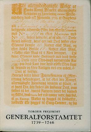 Generalforstamtet 1739-1746.