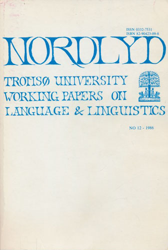 NORDLYD.  Tromsø University Working Papers on Language & Linguistics.