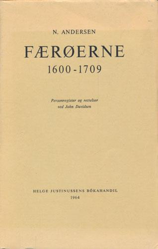 Færøerne 1600-1709. Personregister og rettelser ved John Davidsen. Med 2 kort.