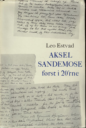 (SANDEMOSE, AKSEL) Aksel Sandemose først i 20'rne.