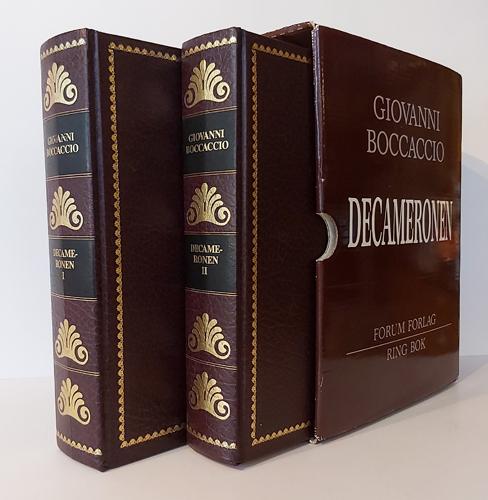 Decameronen. En bearbeidet utgave av Henrik Rytters oversettelse fra 1934. Kunstnerisk utsmykning av Arent Christensen.