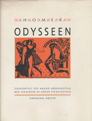 (HOMER, CA. 700 F.KR.) Odysseen. Gjenfortalt ved Amund Hønningstad. Tegninger av H. Stenstadvold.