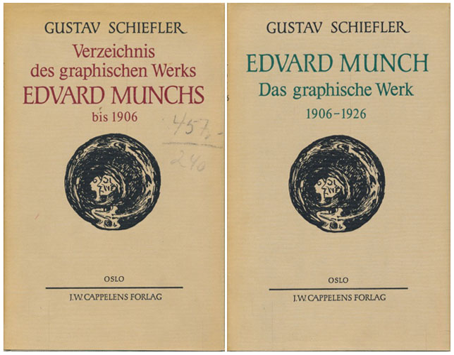 (MUNCH, EDVARD) Verzeichnis des graphischen Werks Edvard Munchs. I: Bis 1906. / II: 1906-1926.