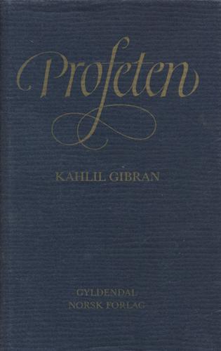 Profeten. Oversatt av Helge Hagerup.