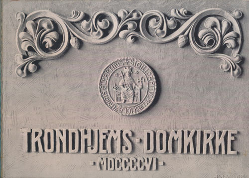 Trondhjems Domkirke. 2den utgave med tillæg Vestskibets gjenreisning og Domkirkens kunstneriske utsmykning.