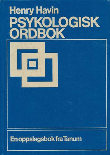 Psykologisk ordbok.