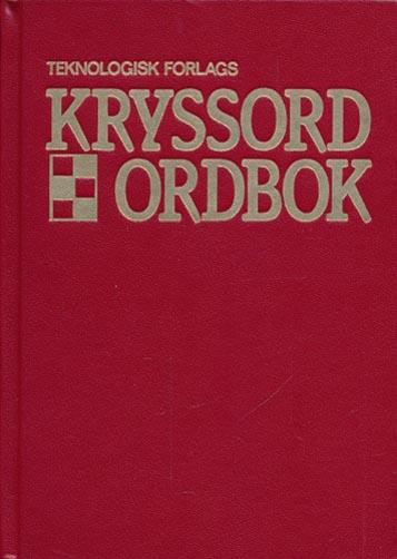 Teknologisk forlags kryssordbok.