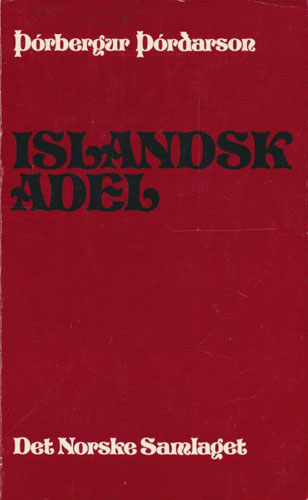 Islandsk adel.