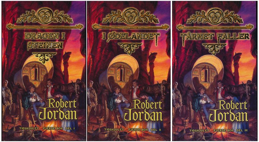 Dragen i steinen. / I ødelandet. / Tårnet faller. Tidshjulet - fjerde bok.