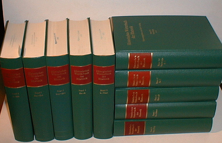 Historisches Wörterbuch der Rhetorik. Mitbegründet von Walter Jens.