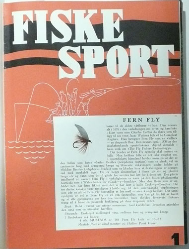 FISKESPORT.  7. årgang. Organ for Norges sportsfiskerforbund.