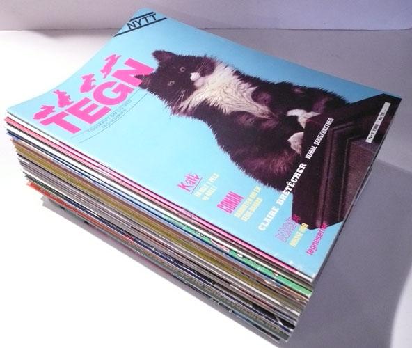 TEGN.  Tidsskrift om og med tegneserier.