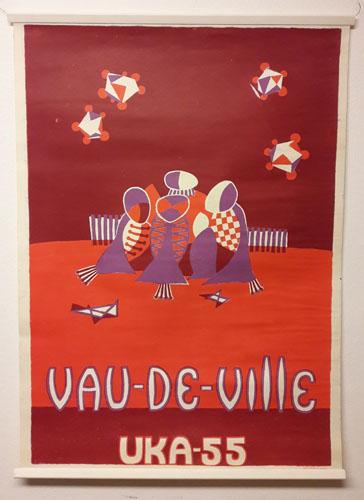 UKA-55. VAU-DE-VILLE.  Original plakat (medfølgende programhefte).