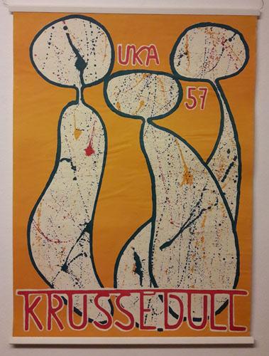 UKA-57. KRUSSEDULL.  Original plakat (medfølgende programhefte).