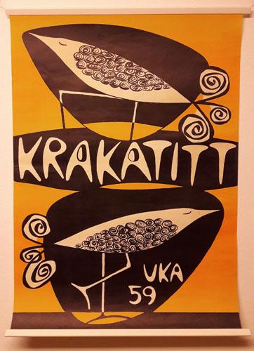 UKA-59. KRAKATITT.  Original plakat (medfølgende programhefte).