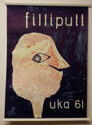 UKA-61. FILLIPUTT.  Original plakat (medfølgende programhefte).