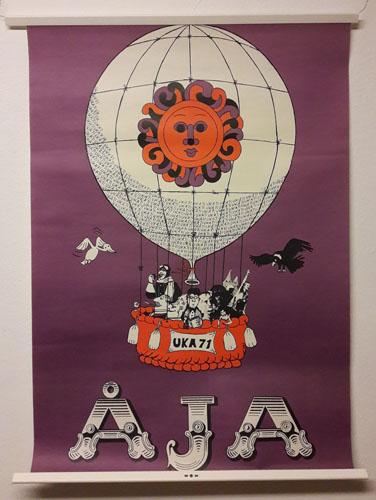 UKA-71. ÅJA.  Original plakat (medfølgende programhefte).