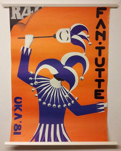 UKA-81. FAN-TUTTE.  Original plakat (medfølgende programhefte).