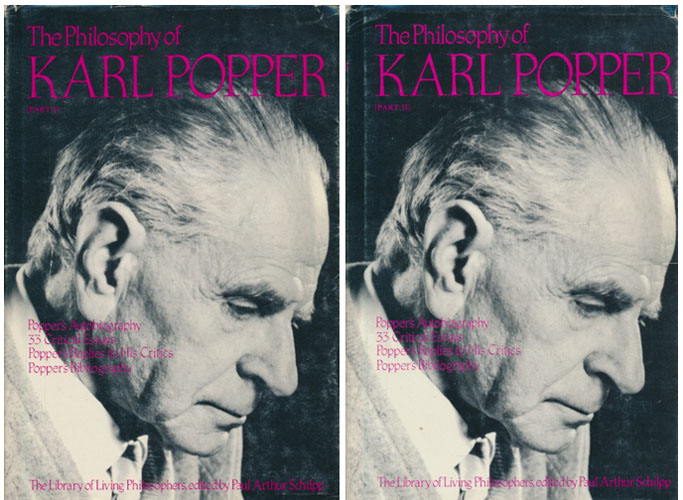 (POPPER, KARL) The Philosophy of Karl Popper.