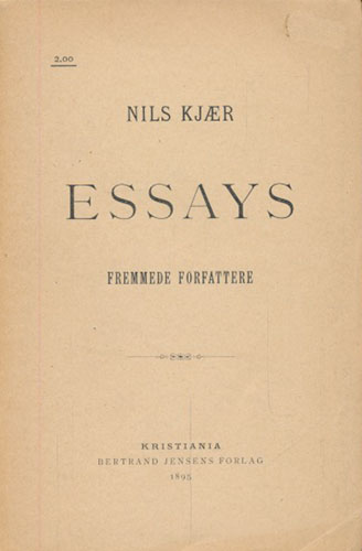 Essays. Fremmede forfattere.