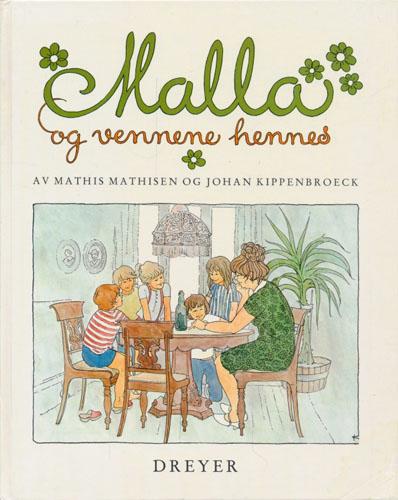 Malla og vennene hennes. Tegnet av Johan Kippenbroeck.