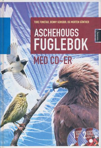 Aschehougs fuglebok med cd-er. Med tegninger av Jens Frimer Andersen og Bjarne Bertel.