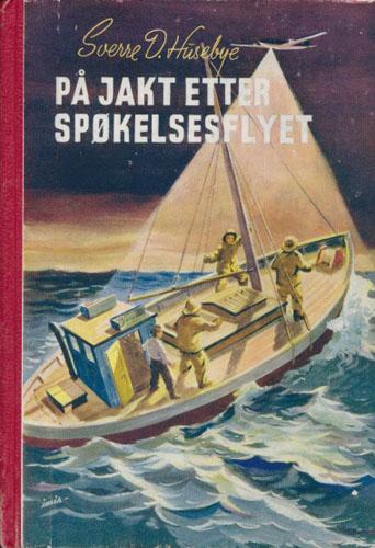 På jakt etter spøkelsesflyet. 4 helsides illustrasjoner, 2 kartsskisser.