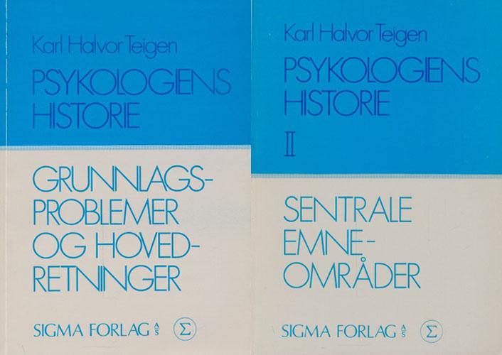 Psykologiens historie. Grunnlagsproblemer og hovedretninger. / Sentrale emneområder.