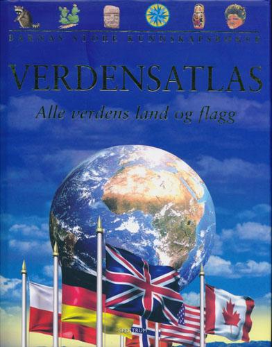 VERDENSATLAS.  Alle verdens land og flagg (omslagstittel).