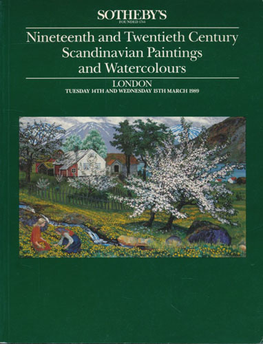 (SOTHEBY'S) Nineteenth and Twentieth Century Scandinavian Paintings and Watercoulours.
