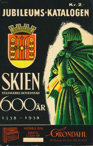 JUBILEUMSKATALOGEN 1958.  Skien 600 år. 1358-1958.
