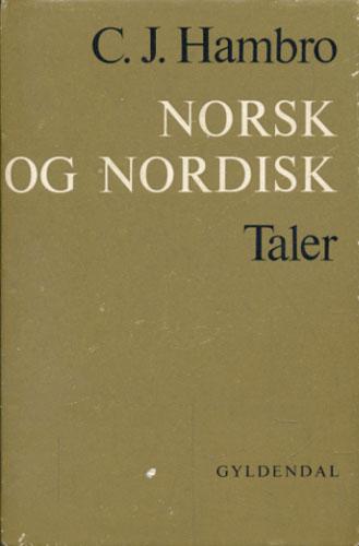 Norsk og nordisk. Taler.