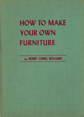 How to make your own furniture.