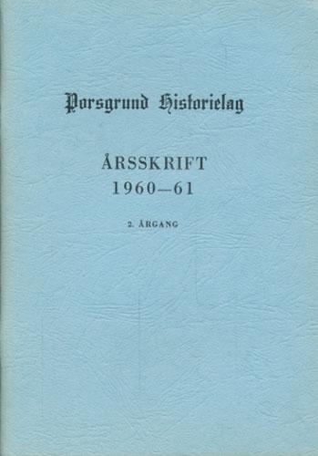 PORSGRUND HISTORIELAG.  Årsskrift.