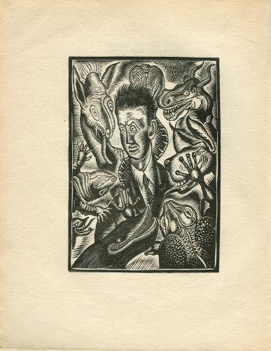 La vie inquiéte de Jean Hermelin.  28 bois originaux de Raymond Thiolloére.