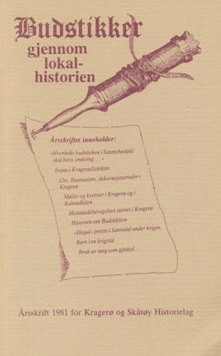 ÅRSSKRIFT FOR KRAGERØ OG SKÅTØY HISTORIELAG
