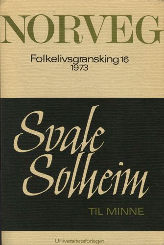 NORVEG.  Tidsskrift for folkelivsgransking. Journal of Norwegian Ethnology.