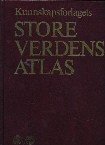 KUNNSKAPSFORLAGETS STORE VERDENSATLAS.  Norsk redaksjon: Cand. philol. Jens Fredrik Nystad, økonomisk geograf.