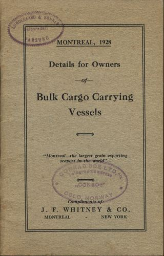 DETAILS FOR OWNERS OF BULK CARGO CARRYING VESSELS.