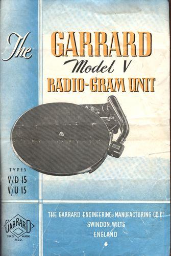 THE GARRARD MODEL V RADIO-GRAM UNIT.