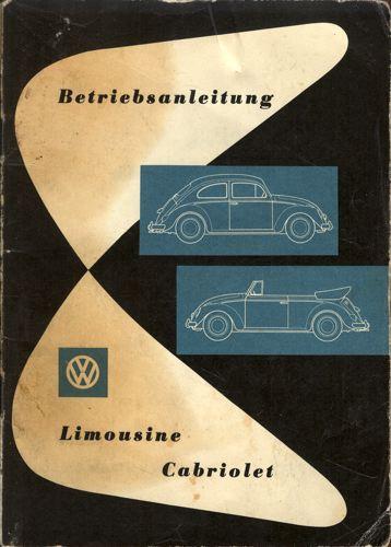 VW.  Betriebsanleitung. Limousine. Cabriolet.