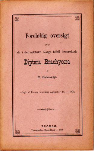 Foreløbig oversigt over de i det arktiske Norge hidtil bemærkede Diptera Brachycera.